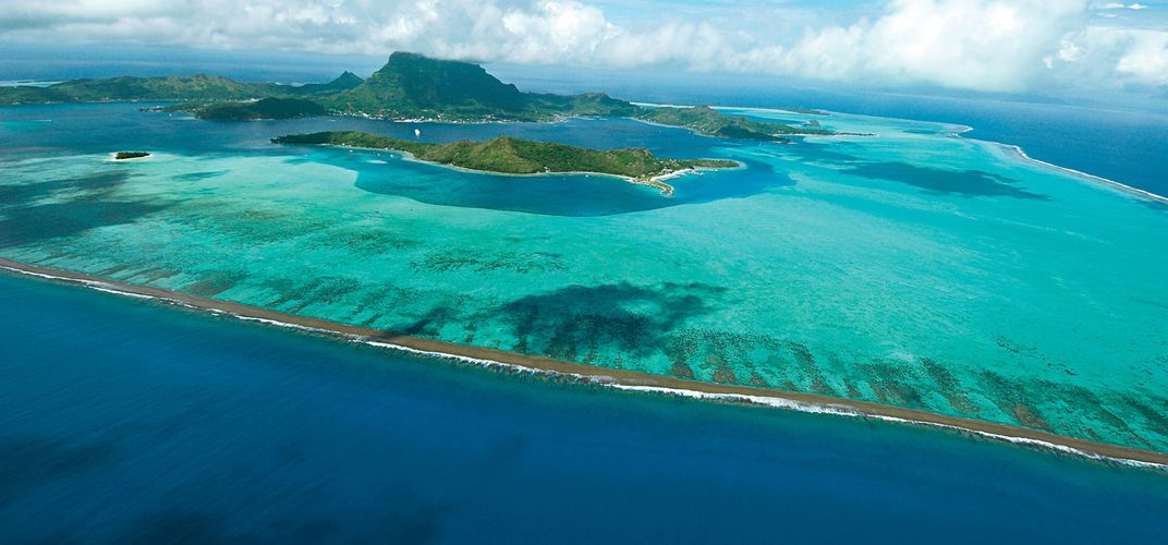 Looking over the lagoon of Bora Bora. Credit: Tahiti-Tourisme.com