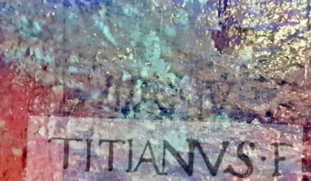 Titian's signature was hidden on a jug in the Last Supper scene.