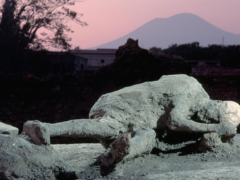 Body cast Pompeii