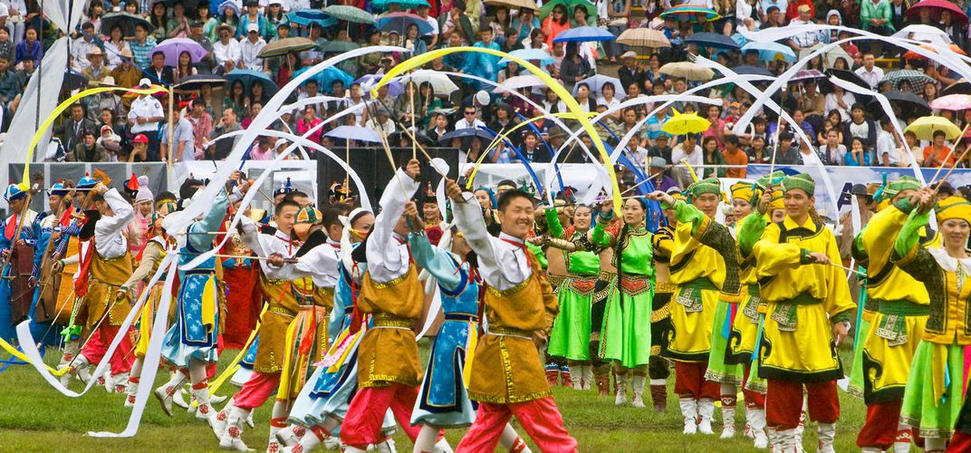 Pageantry at the Naadam Festival