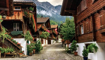 Brienz village, Berne canton, Switzerland