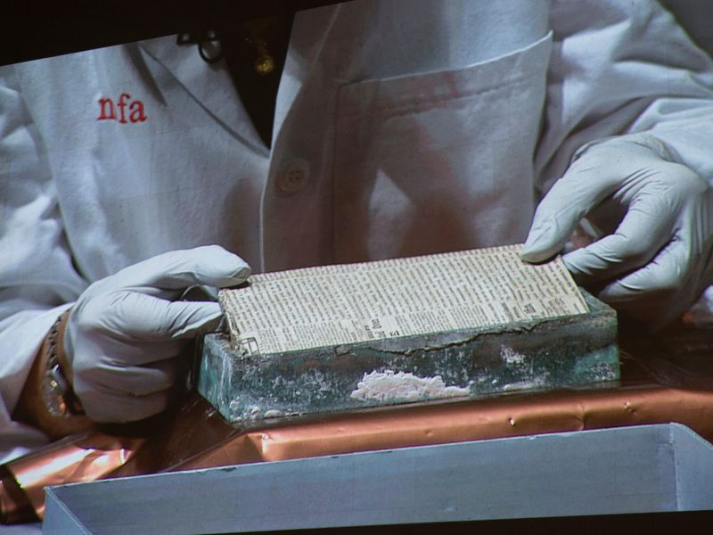 historians in boston have just cracked open a brass box originally buried in 1795 by paul revere and samuel adams
