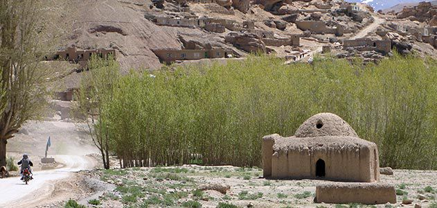 Mud brick homes in Bamyan City