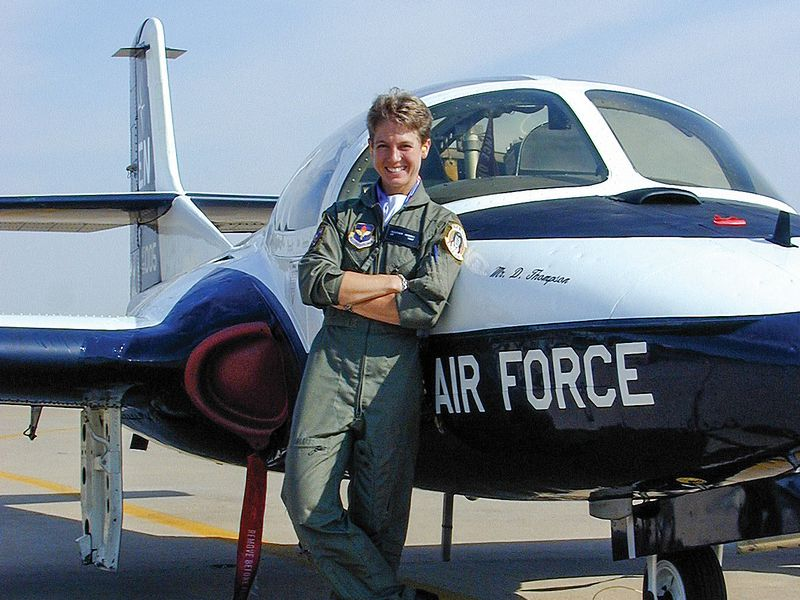 Author in front of USAF plane