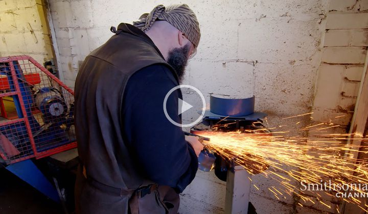 This London Blacksmith Forges Replicas of Medieval Swords