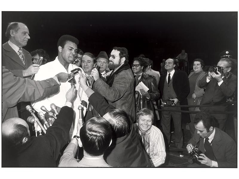 Muhammad Ali at a press conference