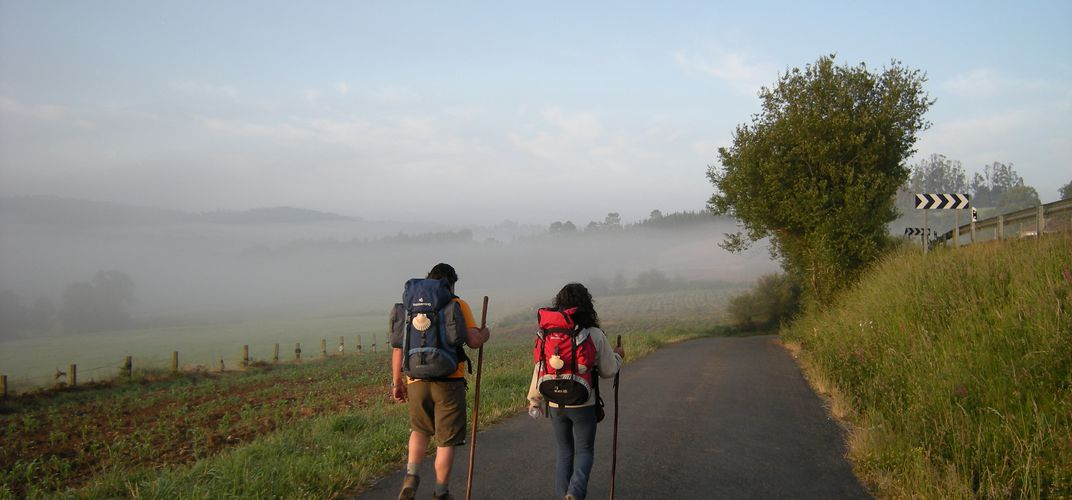 Walking the Camino de Santiago. Credit: Jose Antonio Gill Martinez
