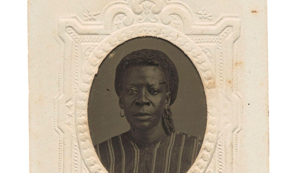 A portrait of an unidentified woman who had likely been enslaved. Photographs of unidentified subjects are key to understanding the African-American experience at the turn of the century.