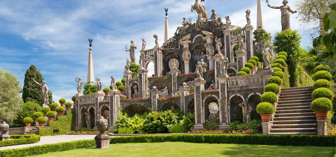 The splendid gardens on Isola Bella, Lake Maggiore