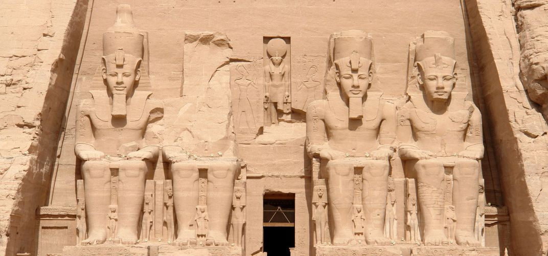 The great Temple of Ramses II at Abu Simbel