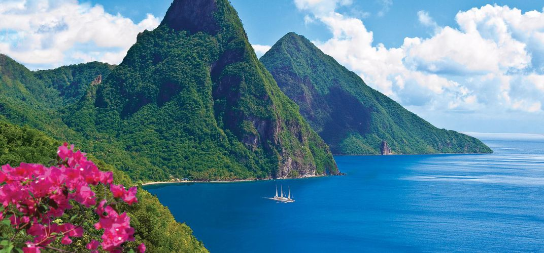 Twin Piton Peaks in St. Lucia