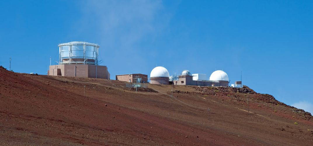 Viewing center and observatory at Haleakala