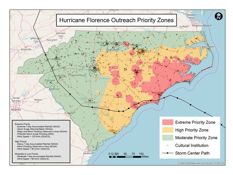 Hurricane Florence Outreach Priority Map