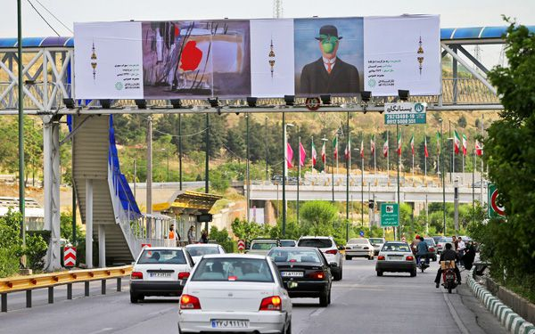 Iran plasters billboards with famous art