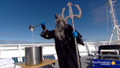 Arctic Cruise Line Baptizes Its Passengers in Ice