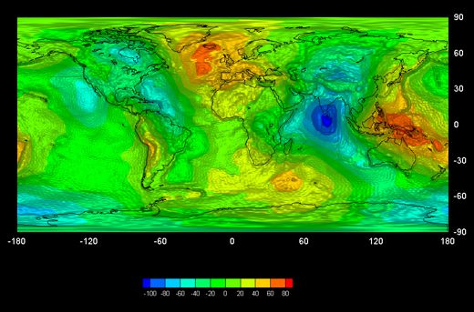 A Map of Earth's Gravity | Science | Smithsonian