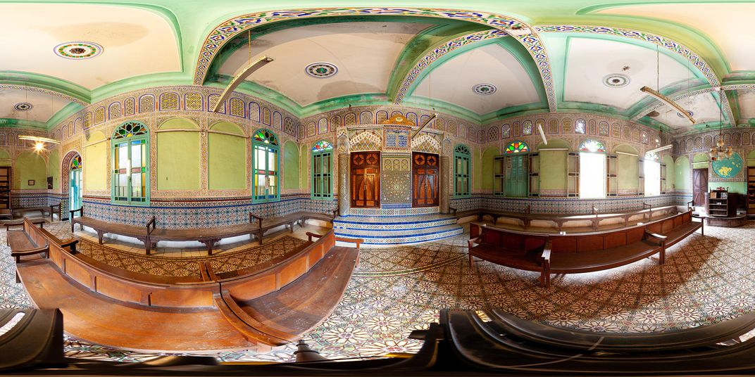 """The Em Habanim Synagogue near Fez, Morocco. Its name, taken from Psalm 113, means """"mother of children."""" The synagogue no longer has a congregation."""