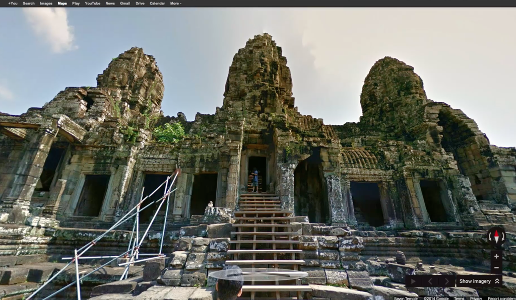A view of Angkor from Google Street View.