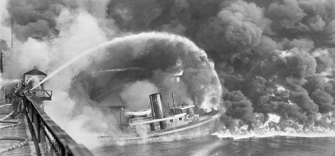 Caption: Cuyahoga River Caught Fire 50 Years Ago