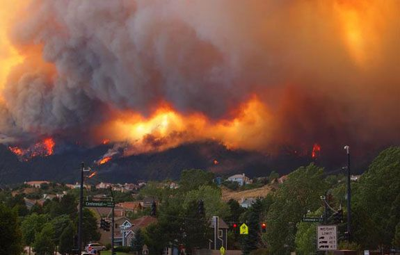 The Colorado Springs fire has forced the evacuation of 32,000 residents.