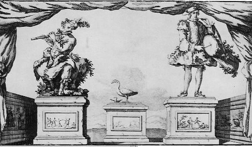 Vaucanson's automata: The Flute Player, The Tambourine Player and Digesting Duck