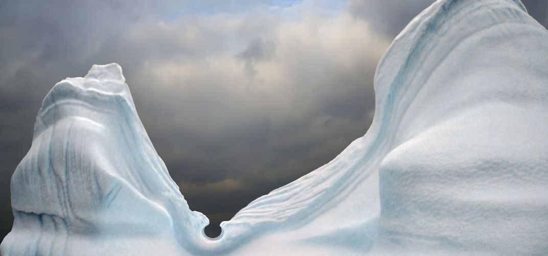 Evocative ice forms in Antarctica