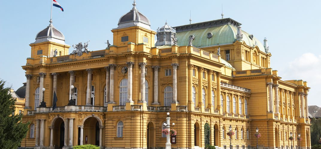 The Croatian National Theater in Zagreb, Croatia's capital