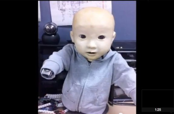 This is Affetto, the creepiest robot baby in the world.