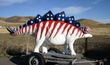 Dinosaur Sighting: Stars and Stripes Stegosaurus