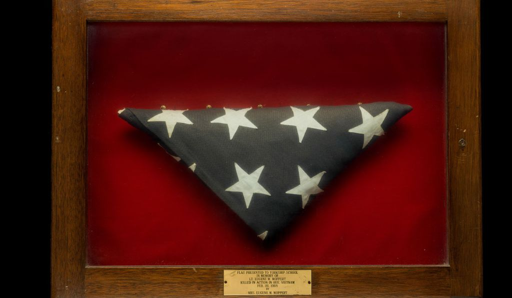 When one of the pen pals died in Vietnam, his widow donated the flag that draped his coffin to the school, where it remained for nearly half a century and will now enter the Smithsonian collection.
