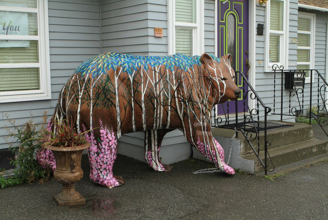 Alaskan city invaded by multi-colored bears