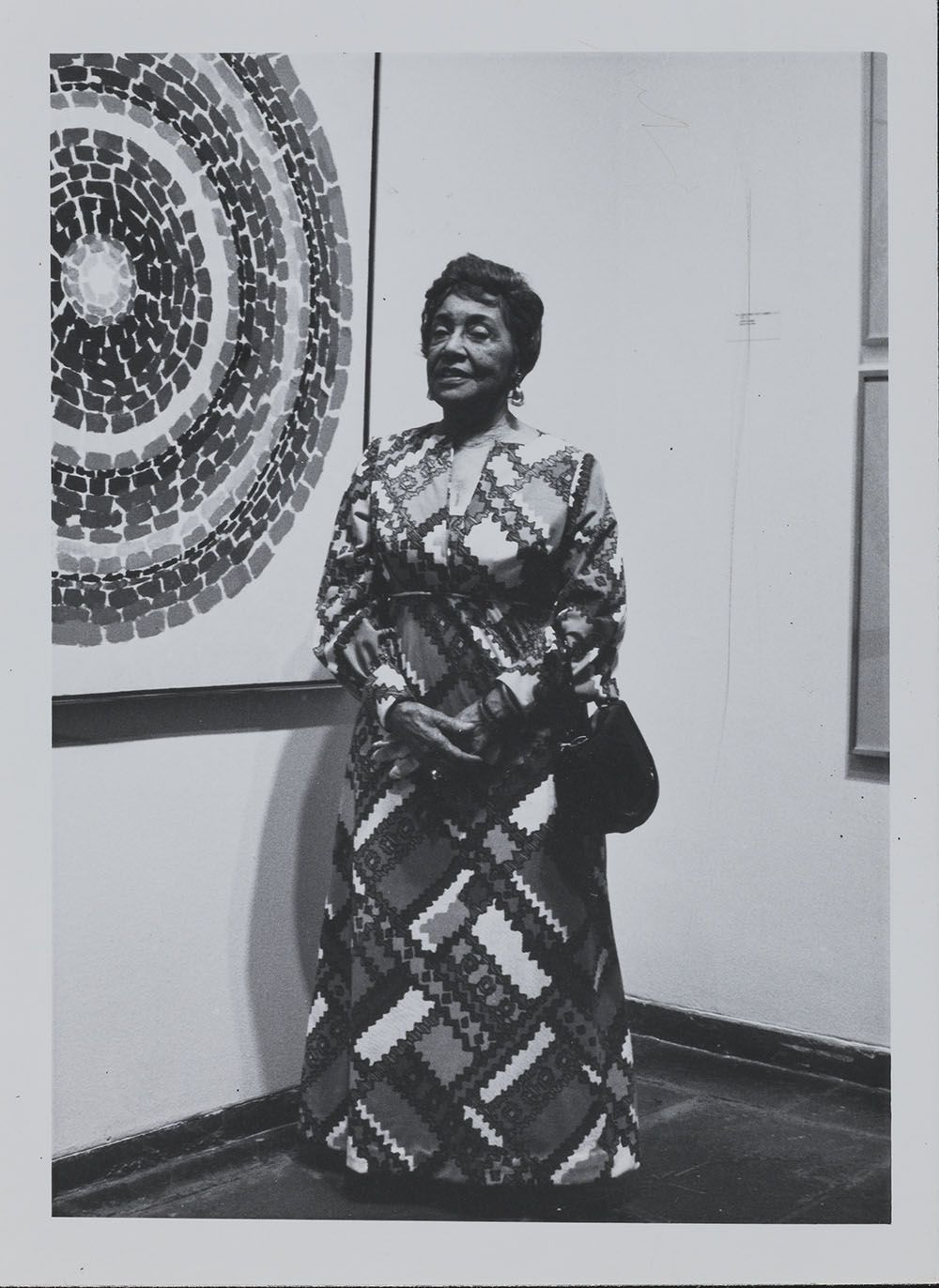 Alma Thomas at the opening of her 1972 show at the Whitney Museum