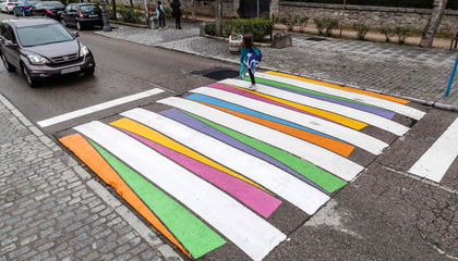 Colorful Crosswalks Paint the Streets of Madrid