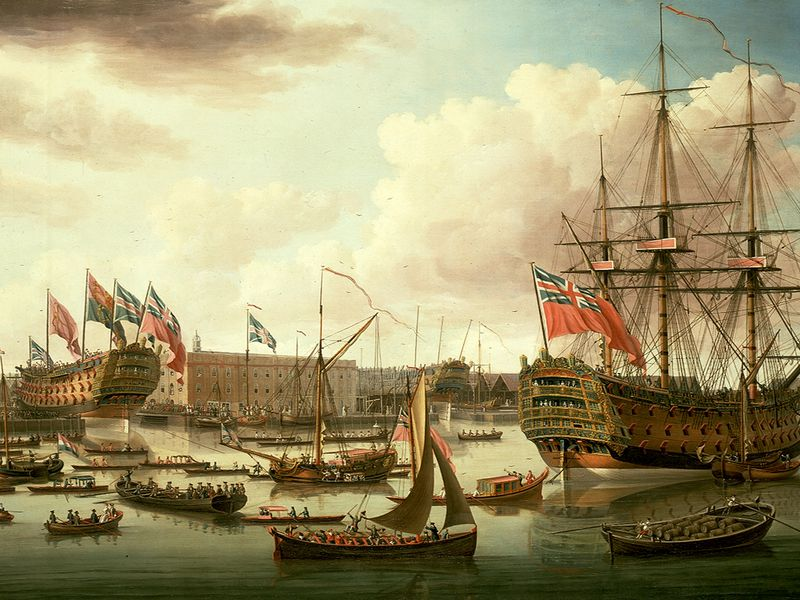 John_Cleveley_the_Elder,_The_Royal_George_at_Deptford_Showing_the_Launch_of_The_Cambridge_(1757).jpg