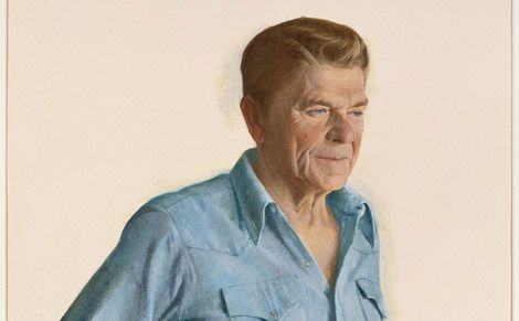 Ronald Reagan, by Aaron Shikler