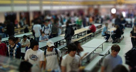 The daunting school cafeteria
