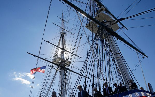 1797 navy ship tours Boston harbor again