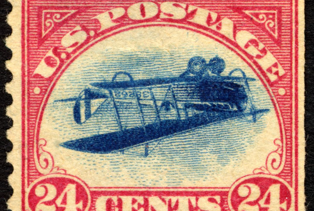 how the inverted jenny a 24 cent stamp came to be worth a fortune