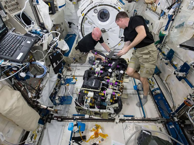 Astronauts on ISS