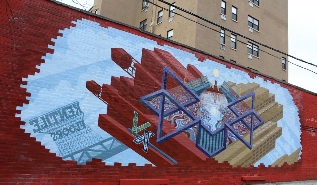Born and Raised, a Groundswell mural in Brooklyn about the Gowanus Canal.