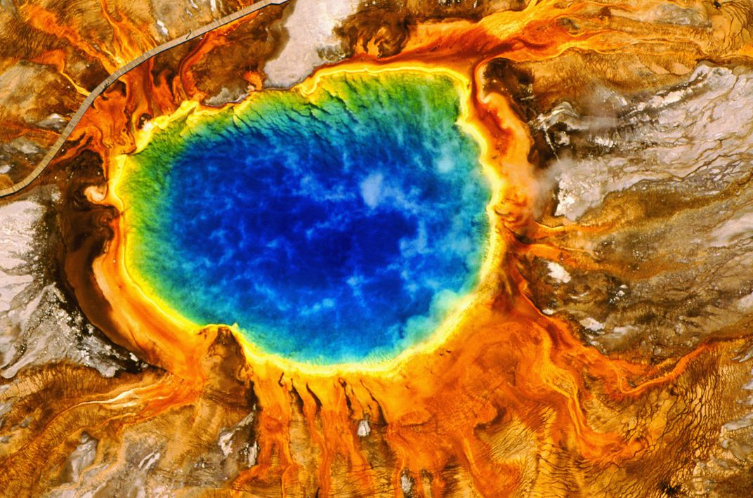 Yellowstone S Grand Prismatic Spring Is The Largest Hot In Park But What Gives It Its Rainbow Colors Charles O Rear Corbis