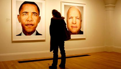 Barack Obama is the Man of the Moment at the Portrait Gallery