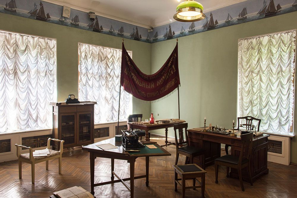 Lenin's office inside the former mansion