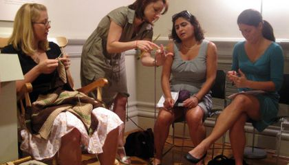 Sit 'n' Knit at the Renwick Gallery