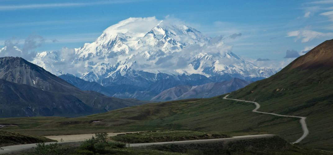 The magnificent Mt. Denali and the park road
