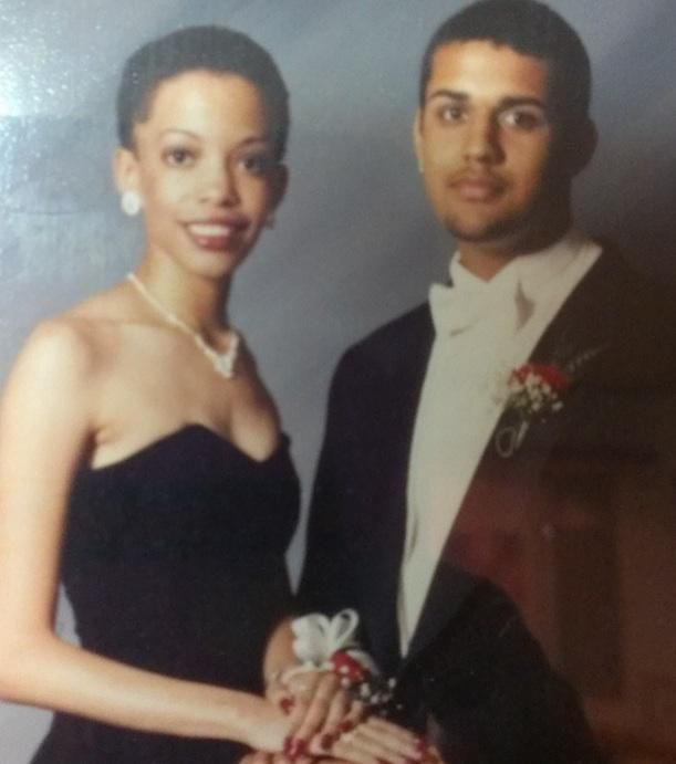 Reed at her prom, weeks after cutting off her relaxed hair.