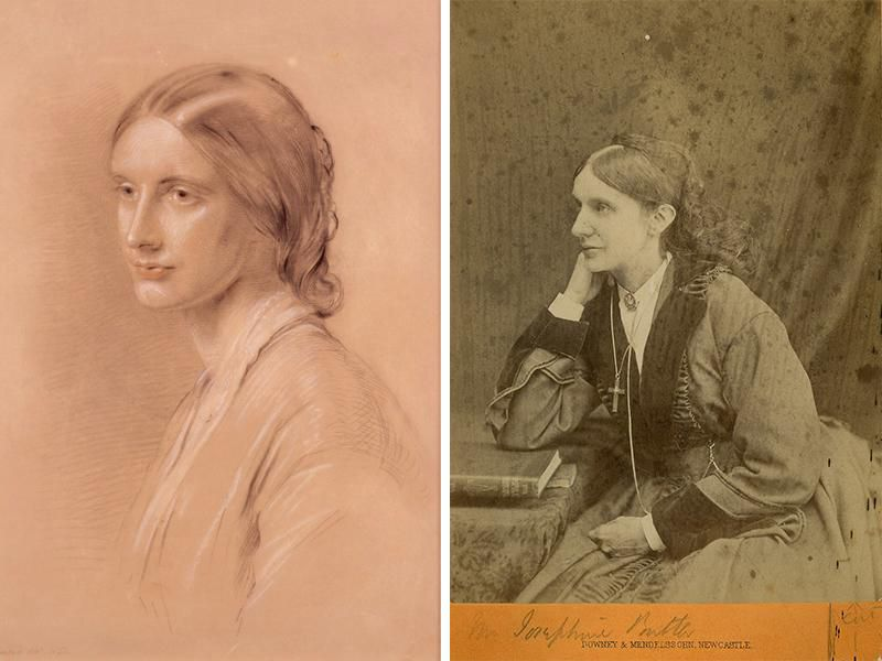 Josephine Butler, as seen in 1851 (left) and 1876 (right)