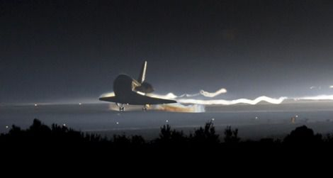 The final landing of NASA's space shuttle program, at the Kennedy Space Center
