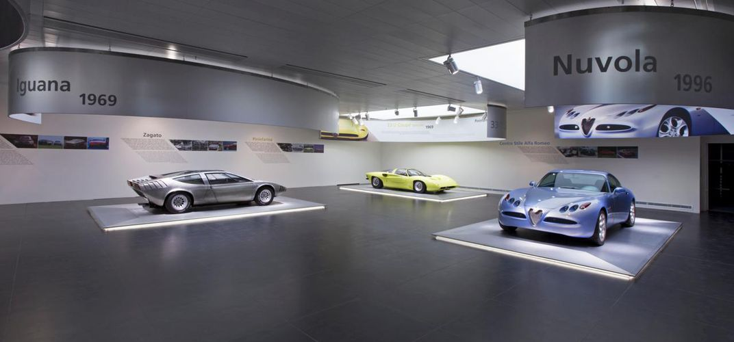 Display at Alfa Romeo Museum. Credit: Alfa Romeo Museum