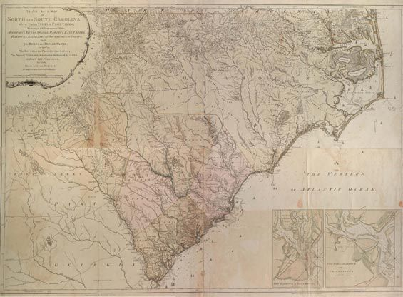 Accurate map of North and South Carolina